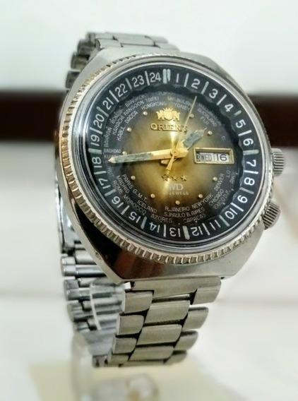 Relógio Antigo Orient Wd World Diver Funcionando Impecável !