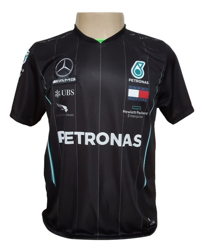 Camiseta Hamilton Mercedes - Preta