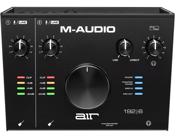 Interface Áudio M-audio Usb Com Midi 2 Canais Air 192-6