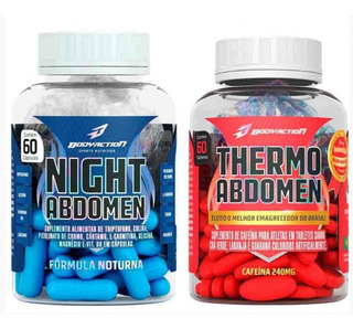 Kit Emagrecedor - Thermo Abdomen E Thermo Night Body Action