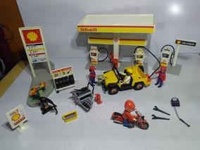 Playmobil Posto De Gasolina Shell Muito Raro Ler Anuncio
