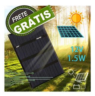 Painel Placa Solar 12v 1,5w Frete Grátis