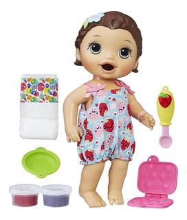 Baby Alive Muñeca Lily Hora De Comer Super Snacks Hasbro