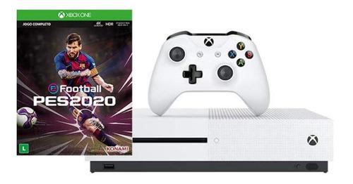 Microsoft Xbox One S 1TB Pro Evolution Soccer 2020  color blanco