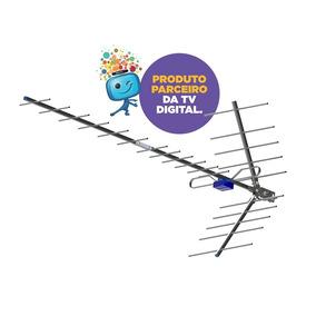 Me Antena Forte Digital Externa Uhf Hdtv Boca De Jacare