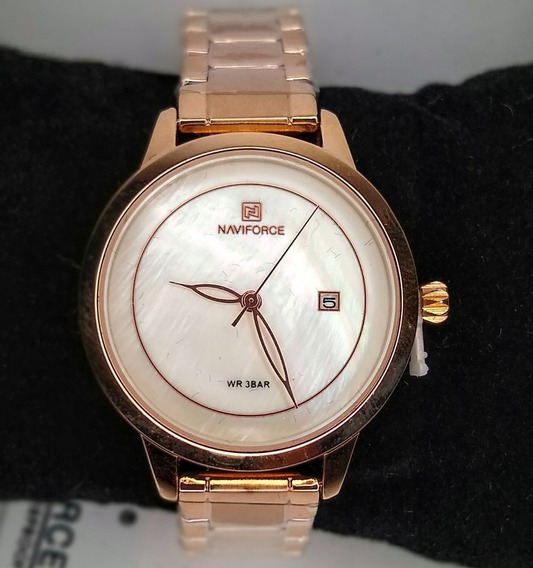 Relógio Feminino Naviforce Aço Luxo Importado + Brinde