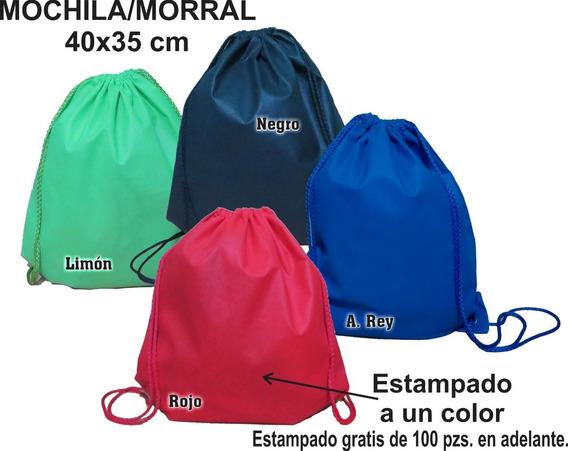 100 Mochila Morral 35*40 Cm Ecológica Publicidad Promocion