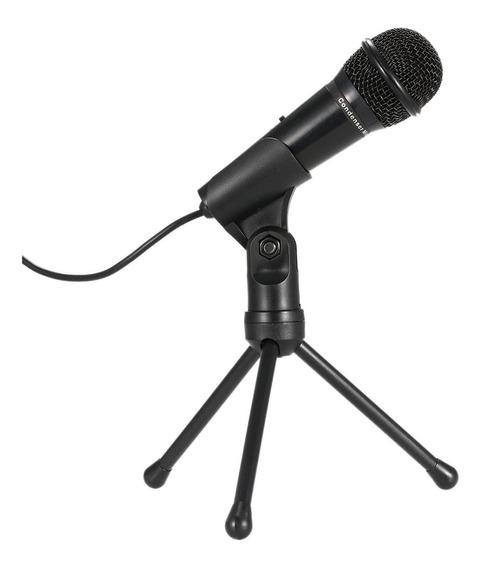 Profissional 3.5mm Condensador Mic Som Studio Podcast Preto