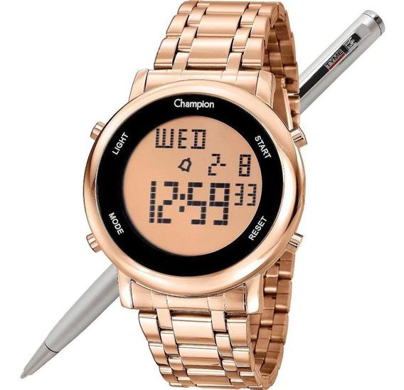 Relógio Champion Feminino Digital Ch40213z Rosé Nota Fiscal