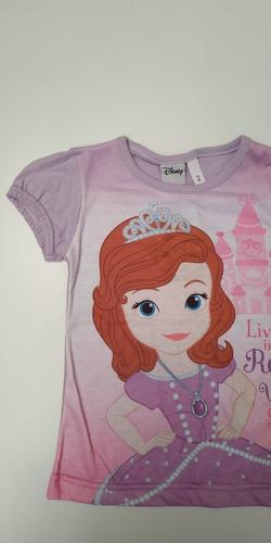 Remera Princesa Sofia Manga Corta Talle 2 Disney