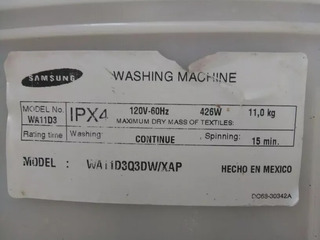 Lavadora Samsung Wa11d3 11kg ( Por Partes )