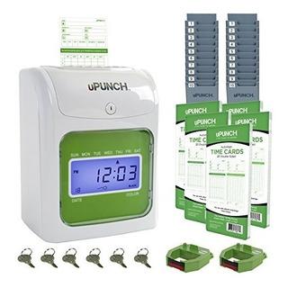 Upunch Hn3500 Juego De Reloj Registrador Con 100 Tarjetas Y