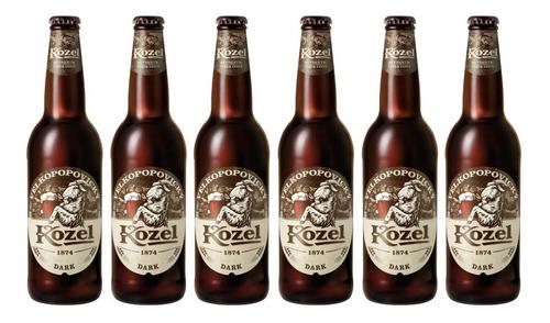 Six Pack De Cervezas Checas Kozel Dark De 500 Ml
