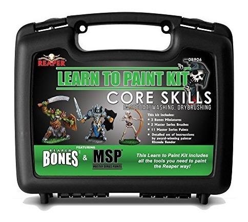 Reaper Miniatures 08906 Kit Learn To Paint Bones