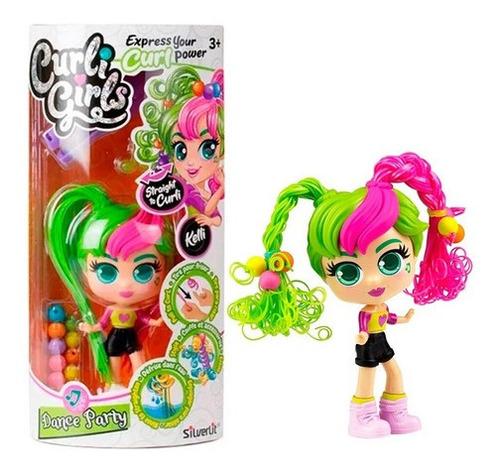 Muñeca Curli Girls Pelo Mágico Rizado Y Lacio 82082