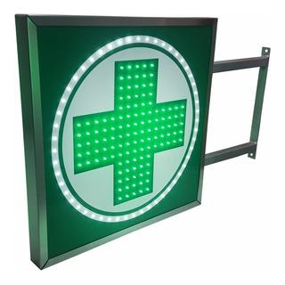 Carteles Led Cruz Farmacia 60x60 - Luminosos - Doble Faz