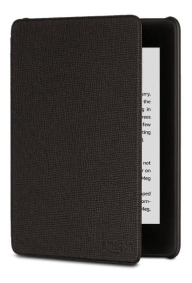 Capa De Couro Amazon Para Kindle Novo Paperwhite Preta
