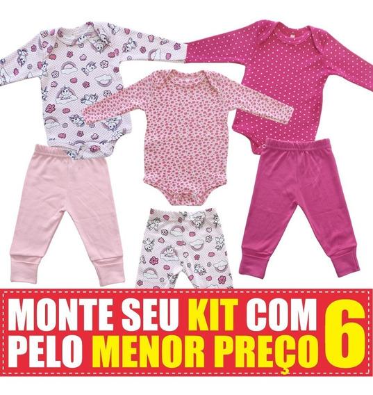 Body E Culote De Bebê Suedine - Kit Com 6 Peças !