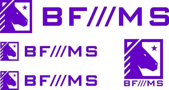Adesivo Bf///ms Kit Com 4 Unidades - Alta Qualidade