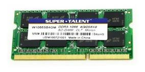 Memoria Super Talent 4gb Ddr3 1066 Sodimm Mac Ou Windows W10