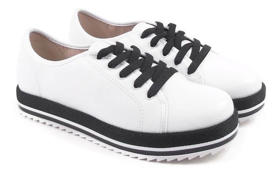 Sapato Feminino Oxford Beira Rio Napa Fosco Sapatenis