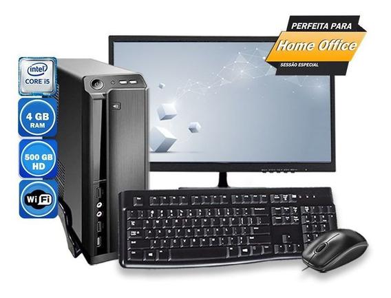 Computador Pc Completo Slim Intel Core I5 4gb Hd 500gb 110v