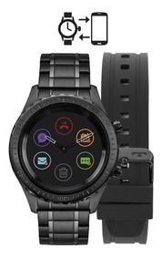 Relógio Technos Connect Duo P01ab/4p Preto Smartwatch Brinde