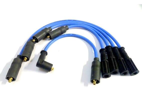 Jogo Cabos De Vela Silicone Azul 8mm Gol Quadrado Ap 1.6 1.8