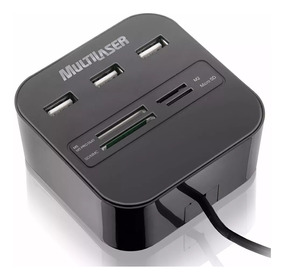 Hub 3 Portas Usb Leitor Cartão Micro Sd Universal 2.0 Ac121
