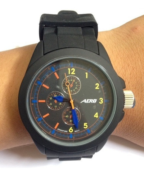 Remate Reloj Aeropostale Color Negro/rojo 100% Orig. Bc0719