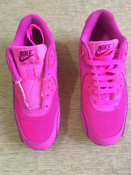 Zapatilla Nike Air Max 90rosa Fuccia (usada)