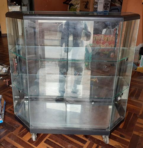 Vitrina Exhibidora De Vidrio Y Aluminio