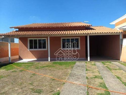 Casa Com 3 Dormitórios À Venda, 70 M² Por R$ 450.000,00 - Itaupuaçu - Maricá/rj - Ca1426