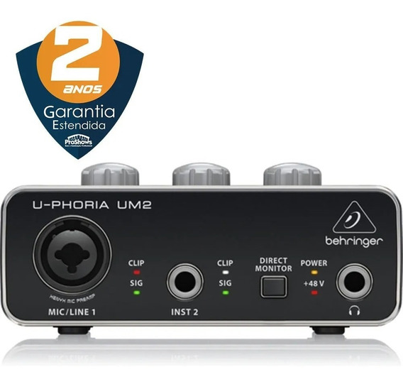 Interface Audio Usb C/ Phantom Power Behringer U-phoria Um2