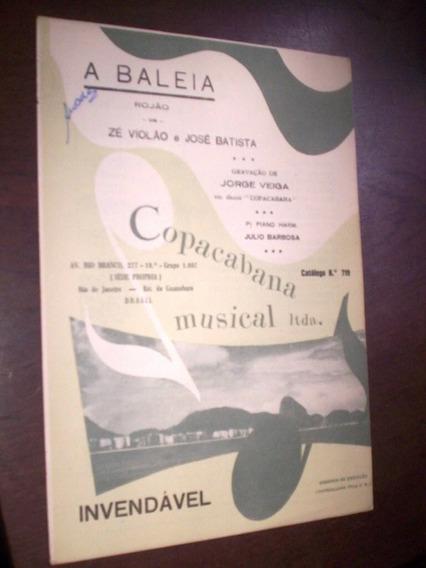 Partitura Rojão 1961 A Baleia Ze Violão Jose Batista