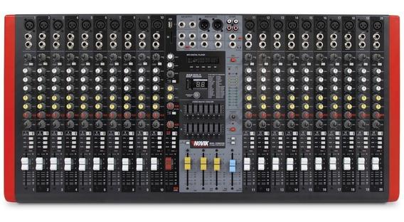 Mesa Som Novik 20 Canais Nvk 20m Usb E Bluetooth C/nf