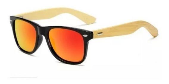 Óculos De Sol Madeira Bambu Original 100% Polarizado Uv400