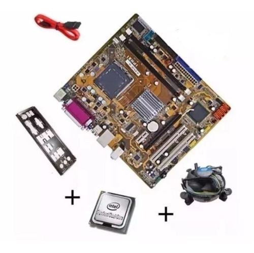 Kit Placa Mãe + Process Intel Dual Core + 4gb Ddr2