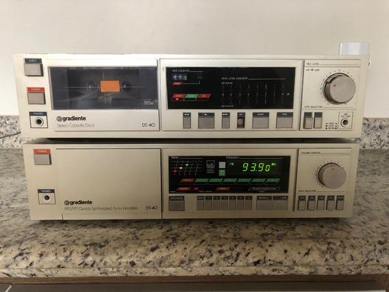 Amplificador Receiver E Tape Deck Gradiente Ds-40