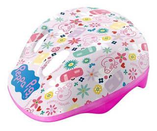 Capacete Infantil Para Patins Ou Bike Peppa Pig Rosa Dtc