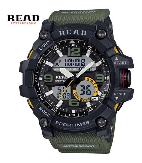 Relógio Masculino Digital Esportivo De Pulso Shock X C Led