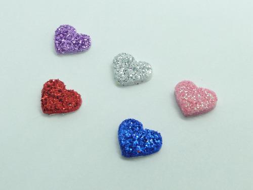 100 Adesivos Pet Coração 1,0cm Aplique Lacinhos Eva Petshop