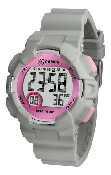 Relógio X-games Feminino Digital Xmppd491 Rosa Cinza