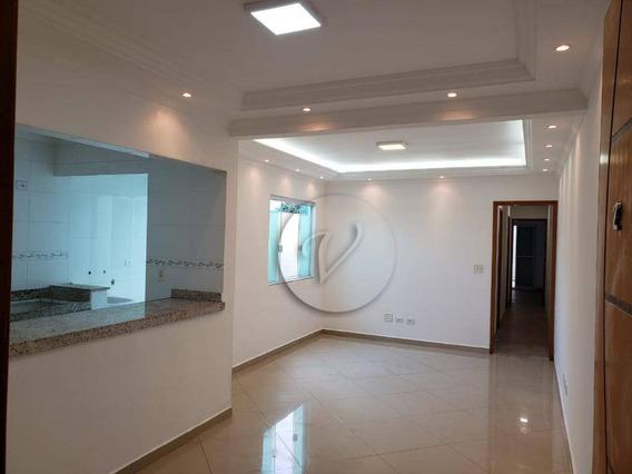 Apartamento À Venda, 78 M² Por R$ 390.000,00 - Campestre - Santo André/sp - Ap9413