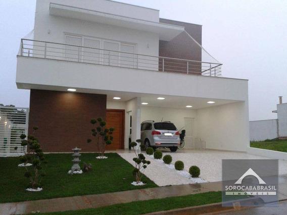 Sobrado Com 3 Dormitórios À Venda, 310 M² Por R$ 1.550.000 - Jardim Residencial Giverny - Sorocaba/sp, Próximo Ao Shopping Iguatemi - So0013
