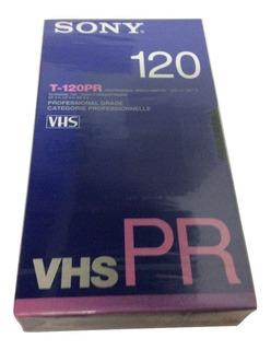 Cassette Vhs Nuevo Sony T-120 Con Diez Piezas