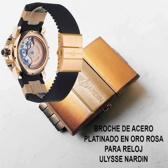 Broche Acero Dorado 20mm Para Ulysse Nardin Envio Inmediato
