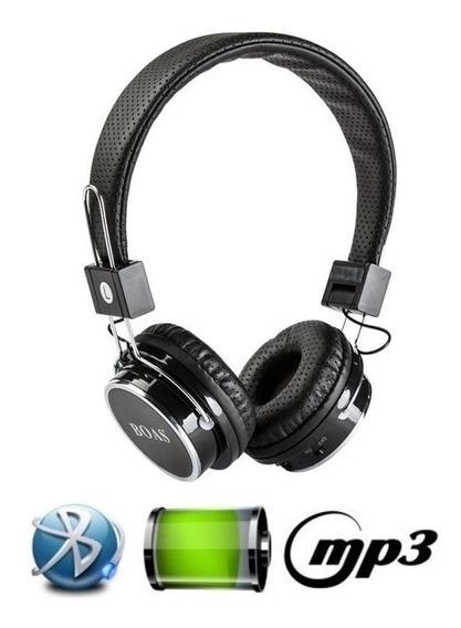 Fone De Ouvido Bluetooth Stereo Micro Sd Mp3 Rádio Fm Preto