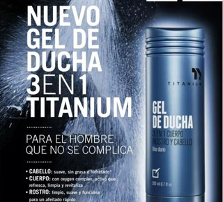 Gel De Ducha Titanium Yanbal 3 En 1 - L a $77