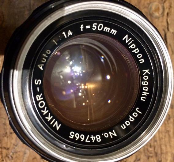 Lente Nikon S 50mm F1.4 Nikkor - S Nº 847665 Espetacular
